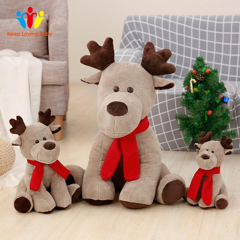 Deer Doll Plush Toy Super Soft Cute Elk Reindeer Christmas Eve Creative Toys Christmas Decoration Party Supplies