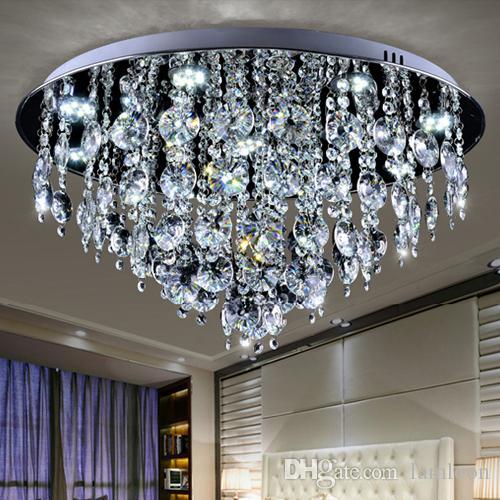 Ceiling Lights & Fans Modern Led Crystal Chandelier Circle Pendant Light Cristal Lustre Chandeliers Living Room Ceiling Lamp Led Dimming Fixtures For Sale
