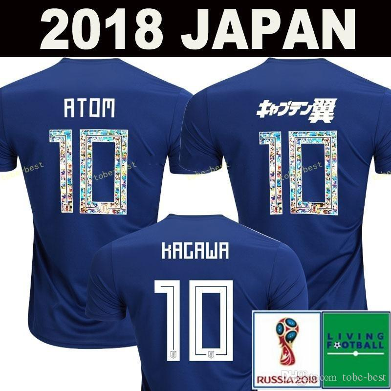 155f03d6dc0 2019 2018 World Cup Japan Soccer Jersey 2018 Japan Home Blue Soccer Shirt   10 KAGAWA  9 OKAZAKI  4 HONDA Football Uniform 2018 World Cup From Tobe  Best