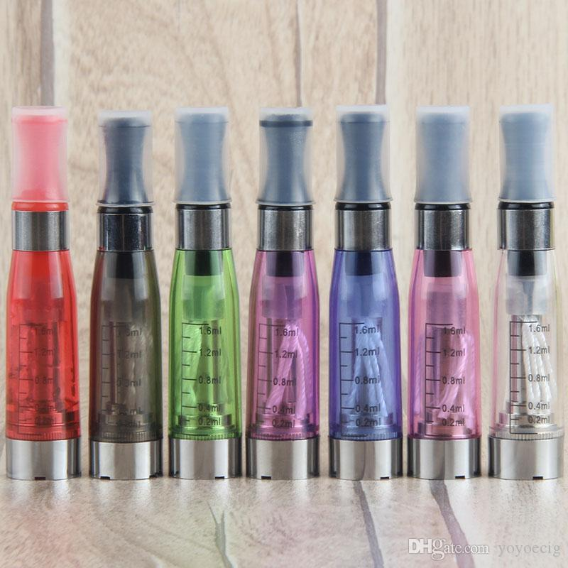High quality colorful CE4 atomizer Electronic Cigarette e cigarette atomizer 1.6ml ego t E-cigarette Clear clearomizer