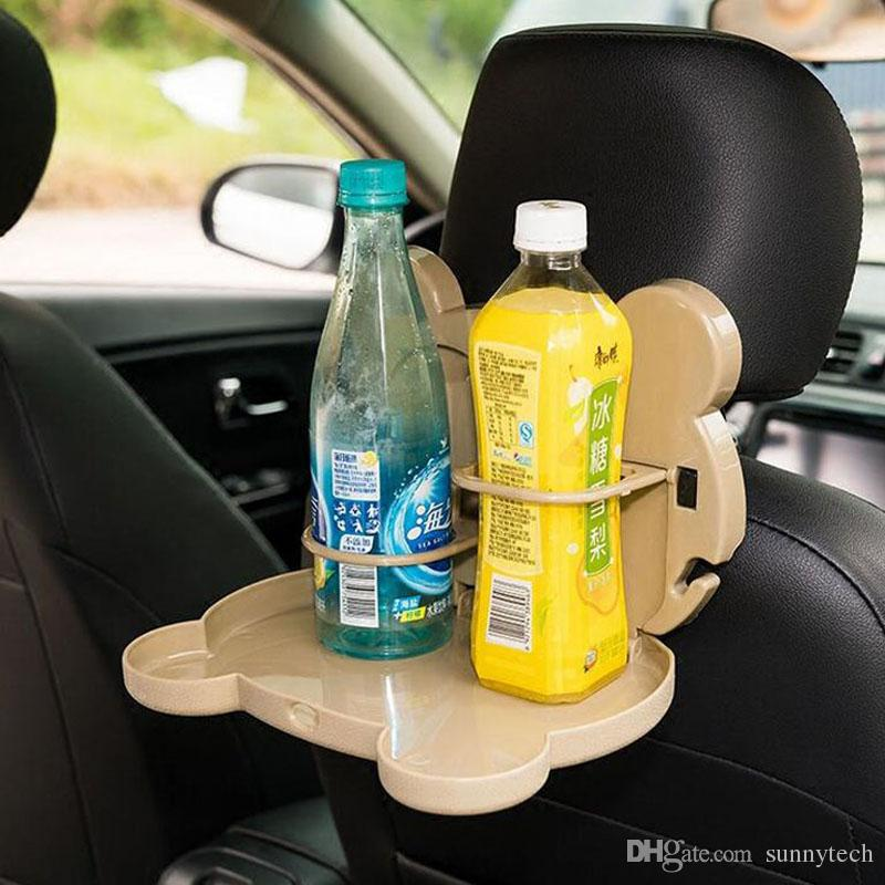 Foldable Auto Car Back Seat Table Drink Food Cup Tray Holder Stand Desk Storage Shelves Cartoon Meal Cup Desk Table ZA5736