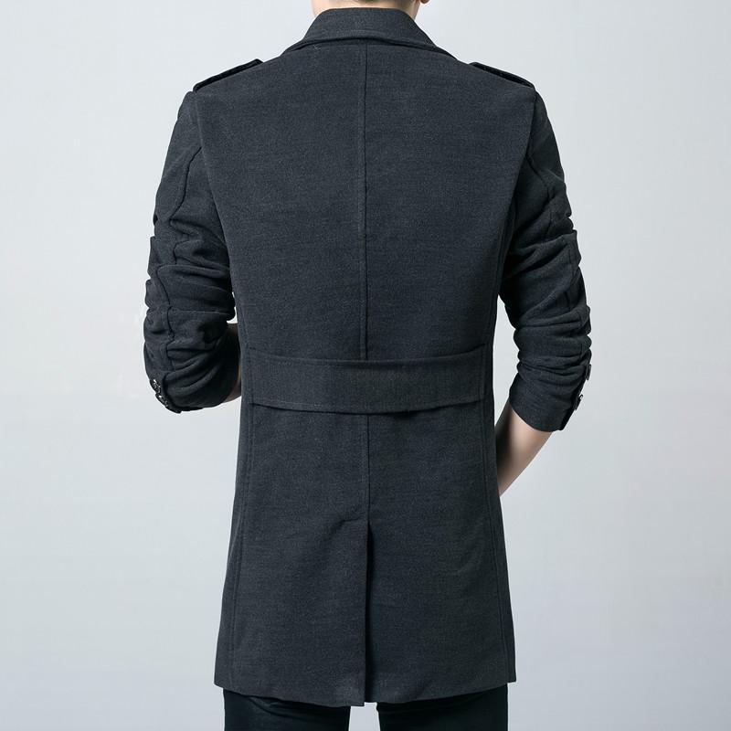 Wool Coat Men 2017 New Winter Woolen Long Peacoat Men Slim Fit casual Overcoat Mens Warm Windbreaker Trench Coat Jackets