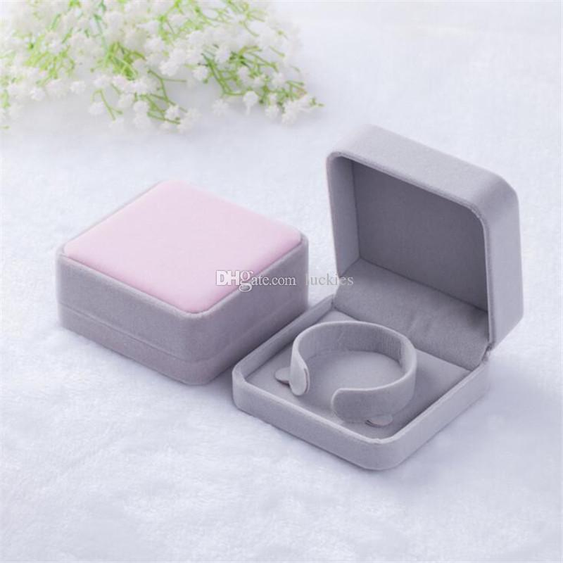 High Grade Jewelry Box Ohrring-Armband-Halsketten-Geschenkbox Hüllen Ausstellverpackung Hochzeit Schmuck-Geschenkbox