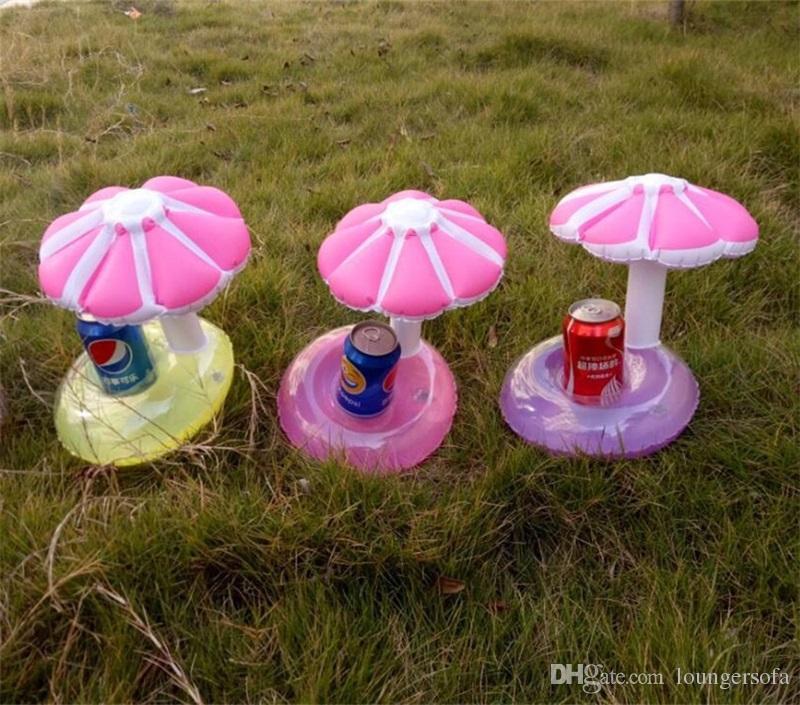 Мини надувные гриб напиток держатель открытый плавательный ванна детские игрушки зонтик дерево воды бассейн плавающие украшения партии горячие Продажа 3 9lx Z