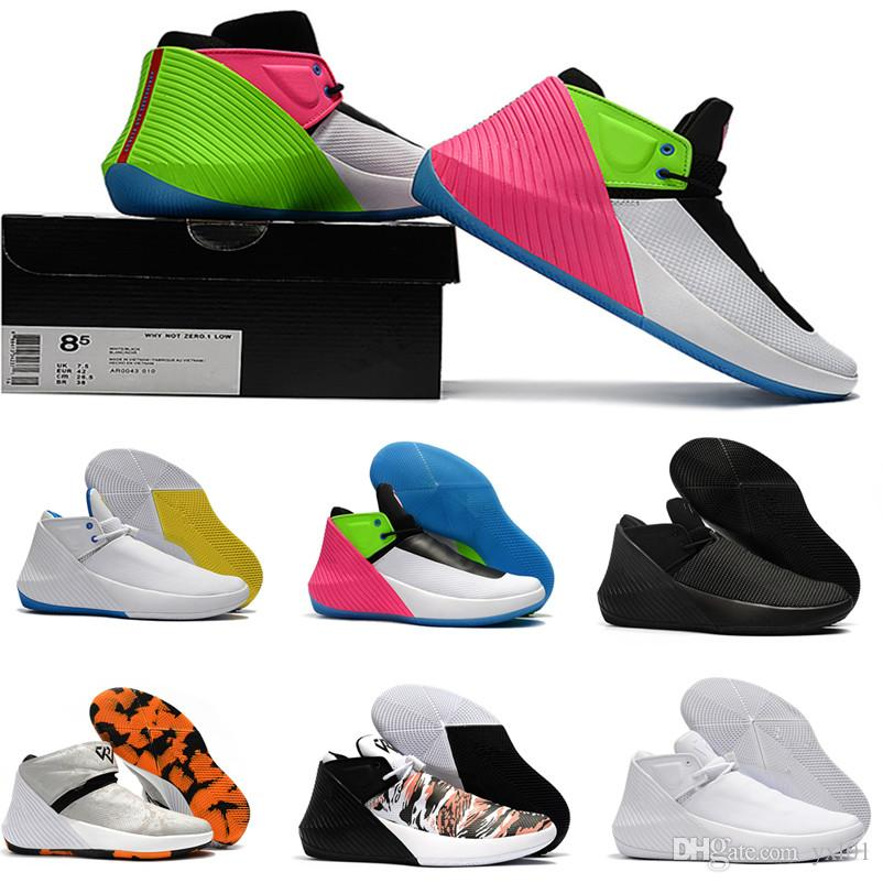 56af836d88f04 2018 New Russell Westbrook Why Not Zer0.1 Low Multicolor Basketball Shoes  Mens Trainers All Black White Chaussures Designer Sneakers US 7 12 Girls ...