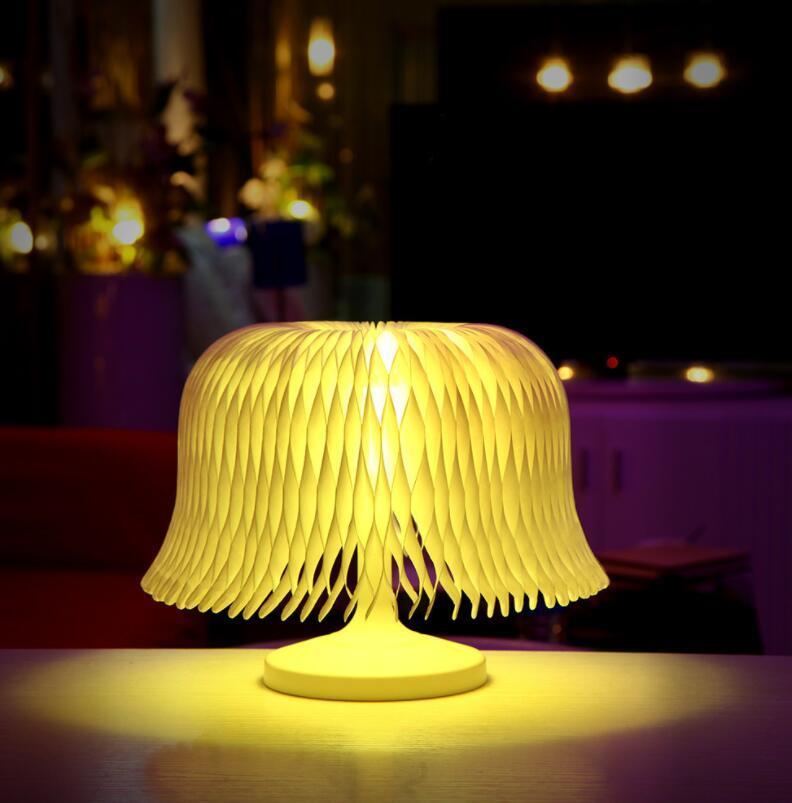 3D Night Light DIY Shape скульптура Дюпон бумаги LED сенсорный настольная лампа сенсорный романтический Night Light изменение цвета лампы 12 шт.
