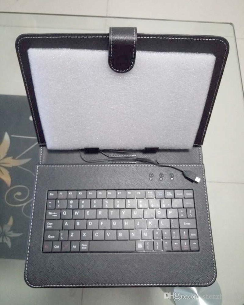 848 الألوان OEM مايكرو USB لوحة المفاتيح حقيبة جلد لل9 بوصة الروبوت اللوحي جلدية قابلة للطي واقية B-JP