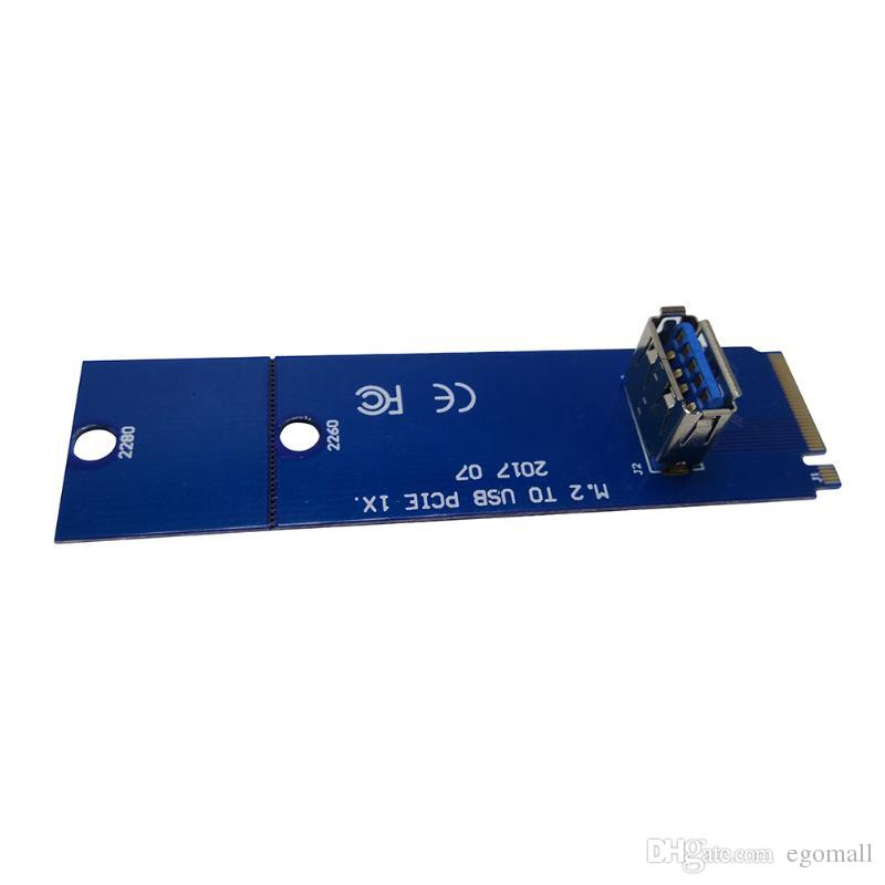 New Riser M.2 NGFF to PCI-E X16 Slot Transfer Card Mining Riser Card VGA Extension Line for Bitcoin Miner