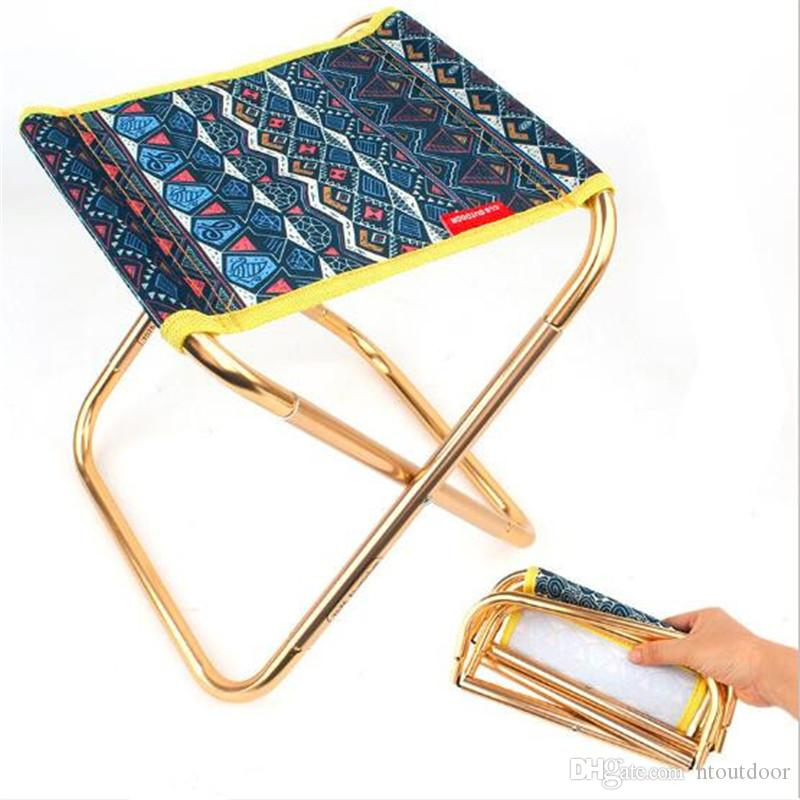 248*225*270mm 7075 Aluminum Alloy Lightweight Outdoor Folding Chair Foldable Fishing BBQ Backpack Camping Chair with Bag