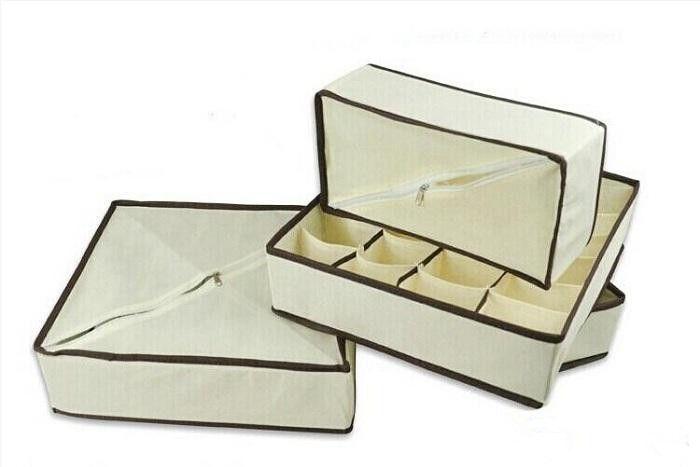 4шт/комплект домашнего хранения носки бюстгальтер нижнее белье галстук коробки хранения шкаф организаторов ящик разделители Бесплатная доставка