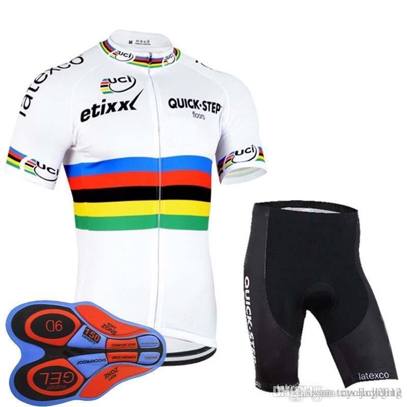 2018 QUICK STEP Team Cycling Short Sleeve Jersey Summer Quick Dry ... 85b323790