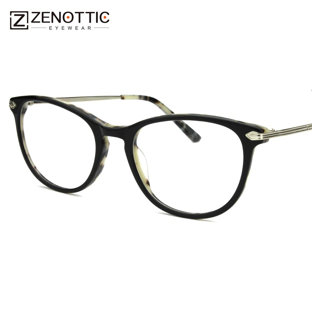 2018 Retro Tortoise Acetate Eyeglass Frames For Women Spectacles ...