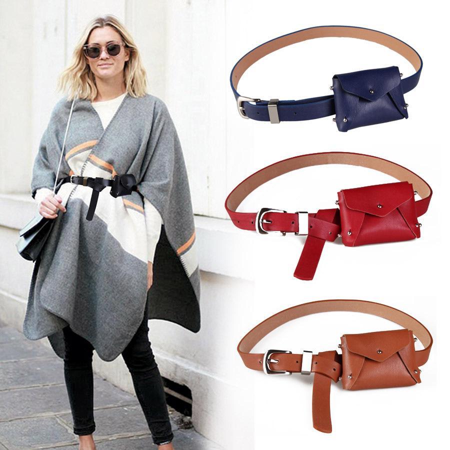 3edf41981497 PU Leather Waist Bag Women Fashion Waist Pack Travel Belt Wallets Female  Pouch Bag For Cards/Keys/Iphone X
