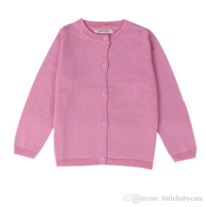 8cffcacba020f 10 Color New Baby Children Clothing Boys Girls Candy Color Knitted Cardigan  Sweater Kids Spring Autumn Cotton Outer Wear