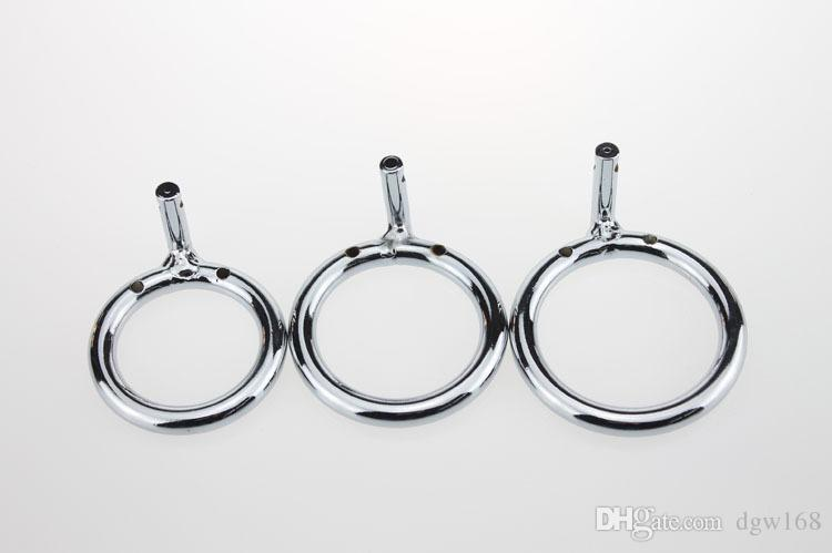 New Stainless Steel Male Chastity Device Cock Cages Additional Ring Cock Ring 3 Size Choose Adult Sex BDSM Toy