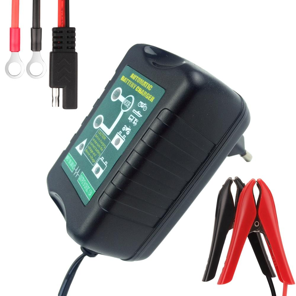 6v 12v selectable 1 5amp car scooter motorcycle battery charger maintainer 4 stage deep cycle. Black Bedroom Furniture Sets. Home Design Ideas