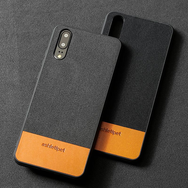 Genuine Leather Phone Case For Huawei P10 p20 P20 Pro Lite Mate 10 Case  Cowhide Stitching Back Cover For Honor 9 10 nova2 Case