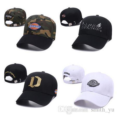 20f6938b583 Fashion 2018 D Strapback Caps Hats Men Women Brand Designer Summer Dickies  Snapback Hip Hop Sport Adjustable Baseball Cap For Sale Custom Fitted Hats  Design ...