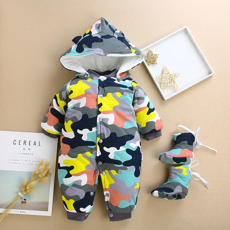 4d1834381883 Baby Rompers Clothes Winter Newborn Baby Rompers New Cotton-padded ...