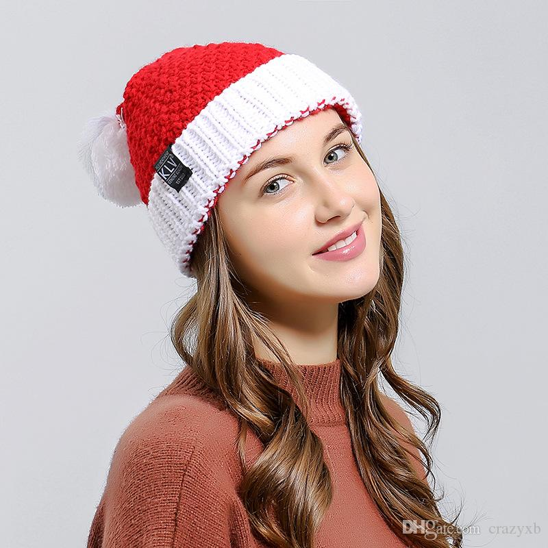 Beanies Winter Hat For Women Christmas Hat Santa Claus Hats Soft Woolen  Knitting With Ball For Kids Adult Gifts Ladies Hats Crazy Hats From  Crazyxb f8580b3342