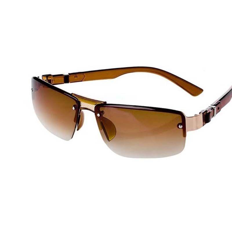 a9cab9d479 Compre 2 Unids / Lote Café Negro Polarizado Gafas De Sol Hombres Sunglass  Estilo Deportivo Moda Gafas Espejos De Conducción Masculinos Metal Sunglass  UV400 ...