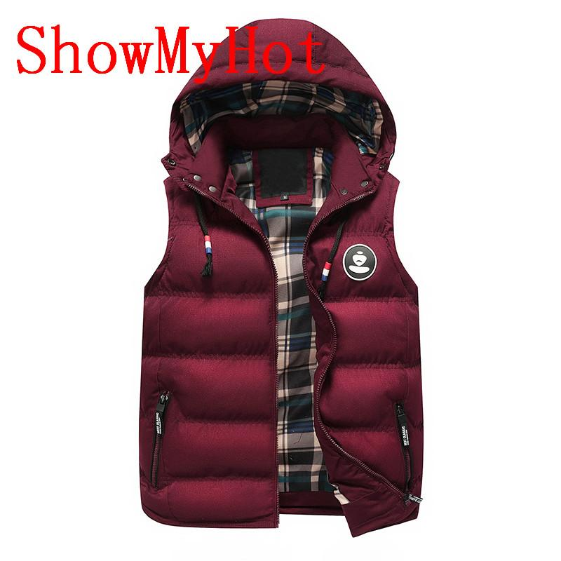 1513ab91e9c ShowMyHot Man Fashion Slim Fit Winter Sleeveless Vest Male Autumn ...