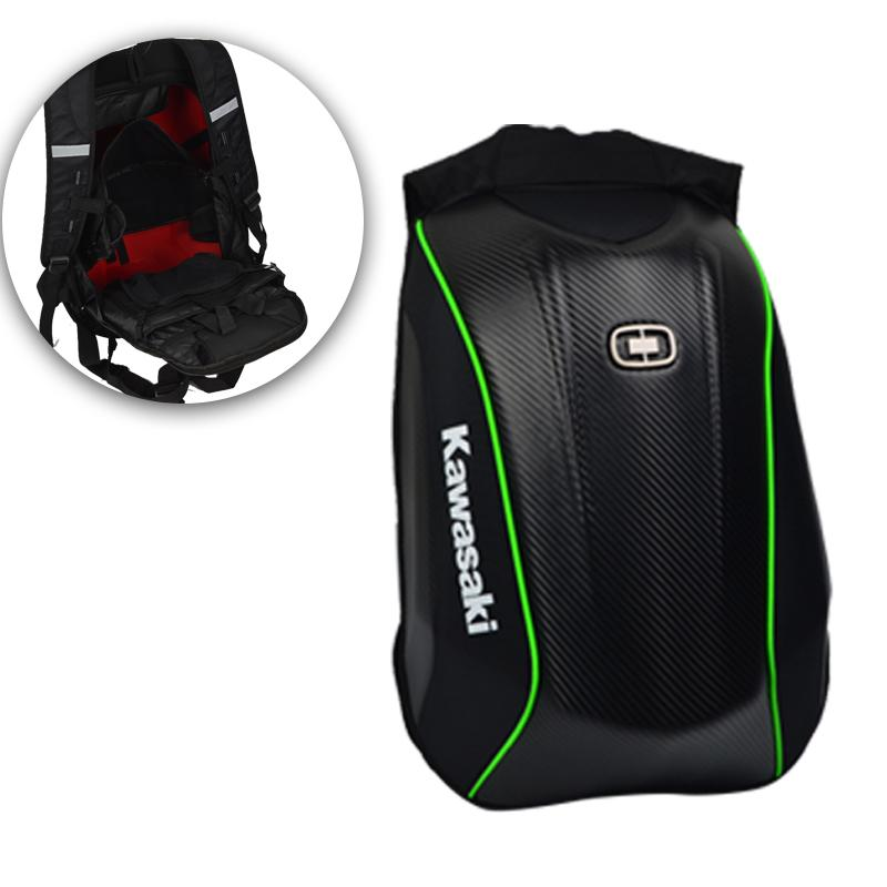 c0f159992c31 Hard shell Backpack motorcycle helmet backpacks Carbon Fiber backpack  Motocross Racing Riding bag motorcycle outdoor sports bag