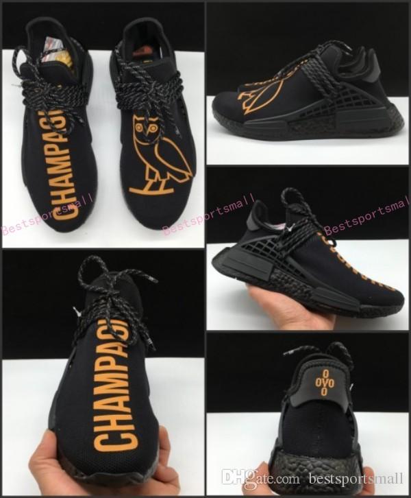 super popular fe982 3924a Men women Human Race OVO x Hu NMD Running Shoes. Fashion summer lightweight  sport sneakers