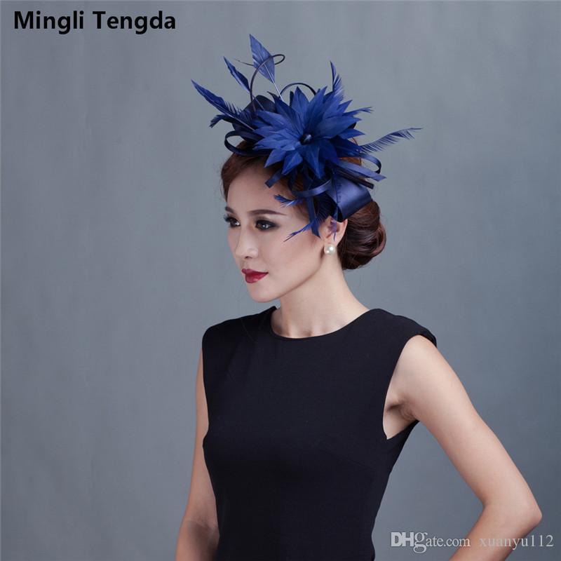 f9482921498ca Mingli Tengda Elegant Fascinators Wedding Black Hats Linen Feather Wedding  Hat Women Hair Accessories Stylish For Wedding Party Bridal Hats Cheap  Vintage ...