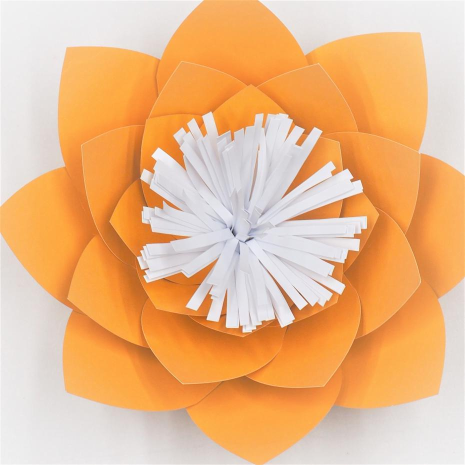 2018 Gold Half Made Giant Paper Flowers Diy Full Kits For Wedding