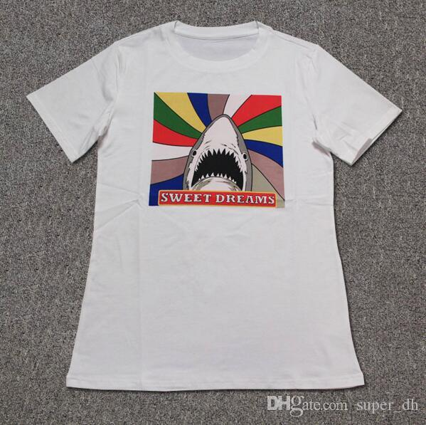 a19ff11e061cb Fashion Rainbow Shark SWEET DREAMS Print Funny T Shirt Men S Skateboard  Casual T Shirt Man O Neck Cotton Tee Shirts Clever Tee Shirts Now T Shirts  From ...