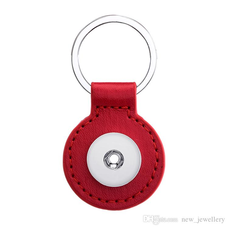 Noosa Snap Button Jewelry Square Circle Snap Key Chains 18MM Snap Button Keychains Key Rings Keyring for Women