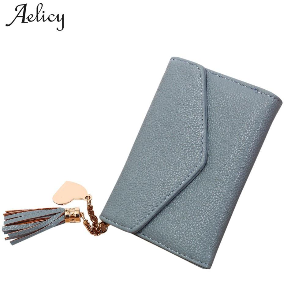 Aelicy 2018 Luxury Women Coin Short Wallet Female Small Purse Orla Clutch Black Patent Leather Bag Ladies Mini Gift Stussy Kiely