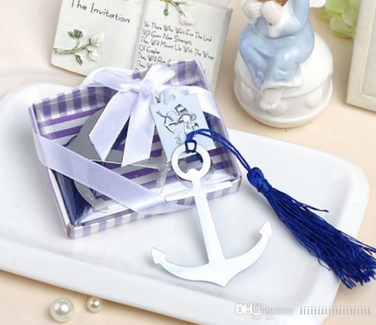 Anchor Bookmark Creative Tassel Metal Anchor Bookmark Wedding Favors
