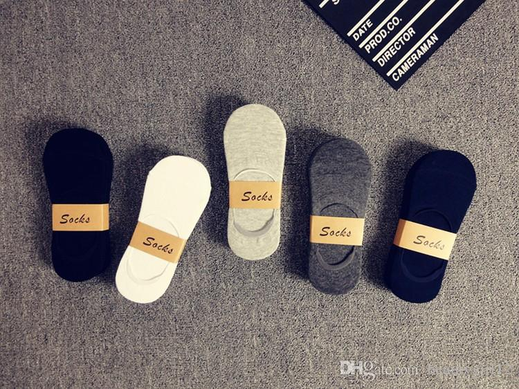 Fashion Casual Men Socks High Quality Banboo & Cotton Socks Brief Invisible Slippers Male Shallow Mouth No Show Sock