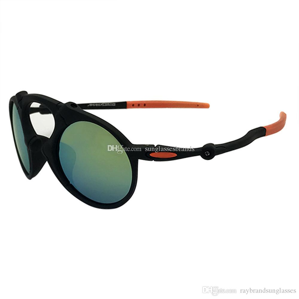 867ab5570f5af Compre 24 Oculos De Sol De Designer O 6019 Homem Louco Dark Carbon Prizm  Daily Black Frame Ouro Mercury Iridium Mirror Lens Frete Grátis OK79 De ...