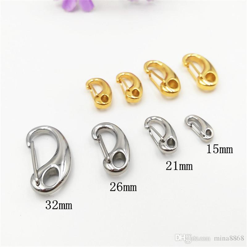 15-50mm Bag Clasps Lobster Swivel Trigger Clips stainless steel Hook Strapping For DIY Accessories Keychain Parts