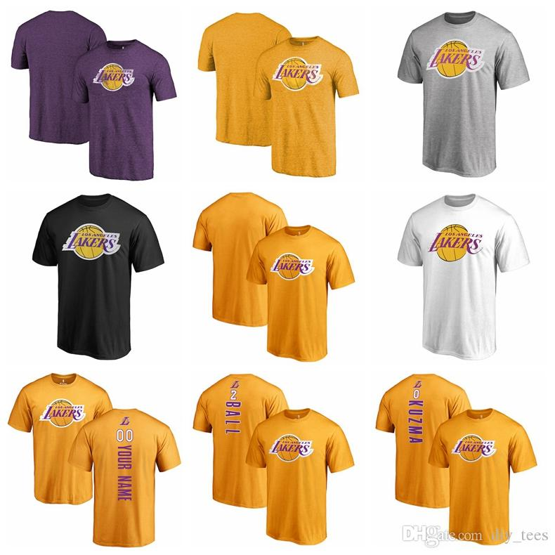 2018 New Los Angeles Lakers Ball Basketball T-shirt 2 Lonzo Ball ... f03440d08