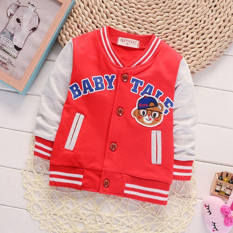 Children Girls Clothes Kids Baseball Sweatershirt Toddler Fashion Brand Jacket 2017 Spring Autumn Baby Outwear For Boy Coat