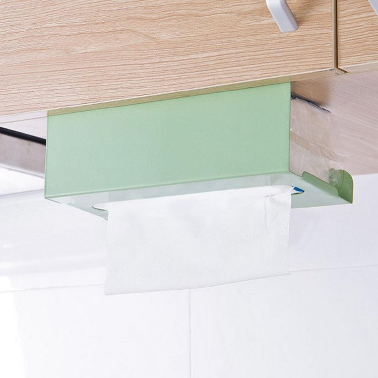 2019 Japanese Kitchen Cabinet Hanging Type Towel Rack Pumping Paper  Perforation Free Iron Box Storage Rack From Smilemen, $31.58 | DHgate.Com
