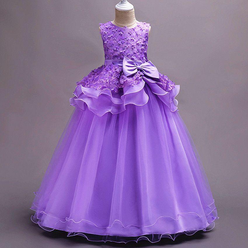 Ball Gown Flower Girl Dresses Baby Girls Dressfor Wedding Pink ...