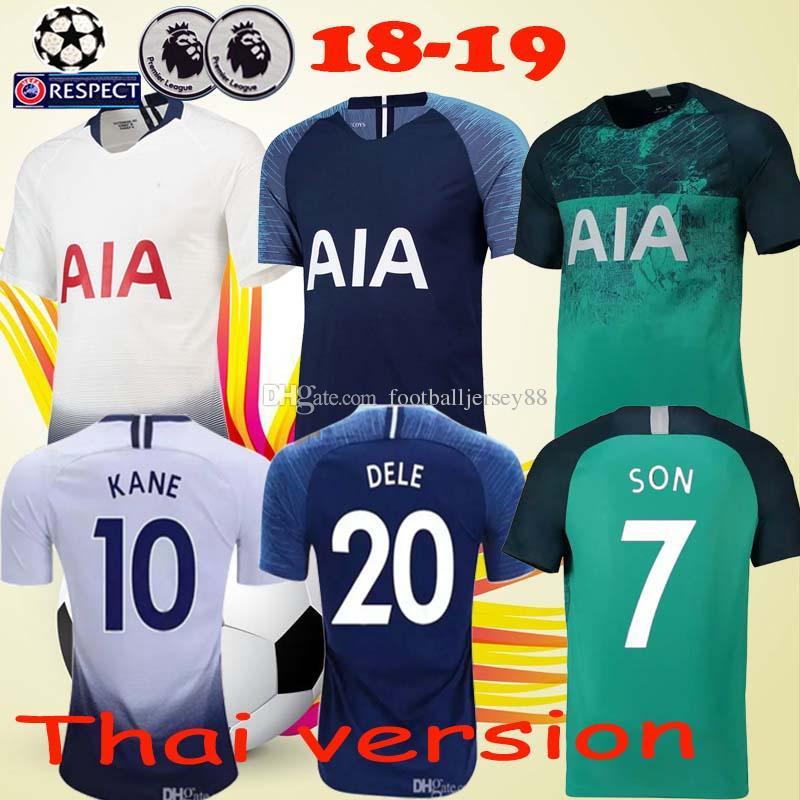 2018 19 Home White Away Blue Soccer Jerseys Son Kane Dele Eriksen Spurs  Futbol Camisa Football Camisetas Shirt Kit Maillot Tops KANE Jersey SON Jersey  Spurs ... 7aeb122ff