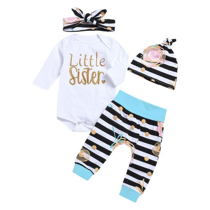 f6462bdf3 Newborn Baby Clothes Set Girls Cute White Long Sleeve O-neck Leeter ...