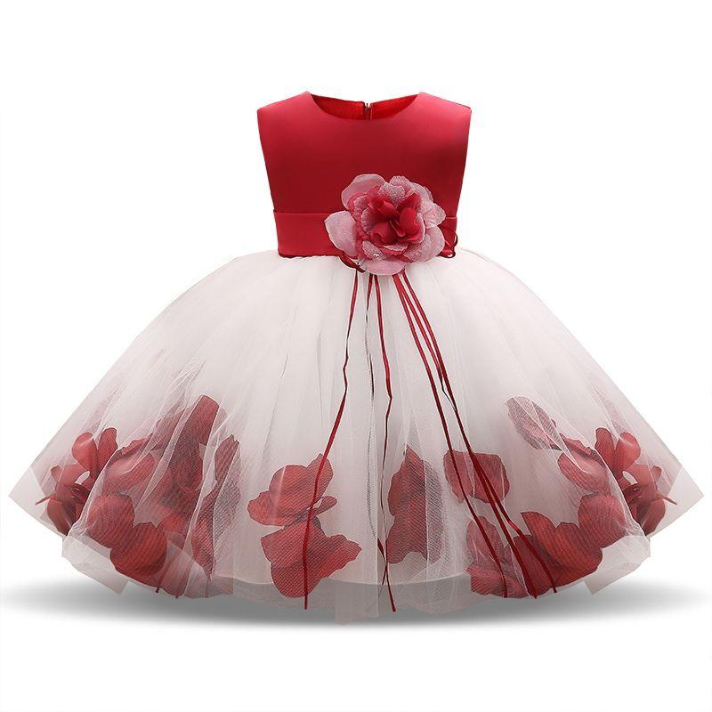 d80c760e8 Compre 1 Año De Cumpleaños Bebé Niña Vestido De Navidad Tutu Bautismo  Infantil Bautizo Vestido Recién Nacido Niño Bebes Ropa 6 9 12 18 24 Meses A   14.96 Del ...