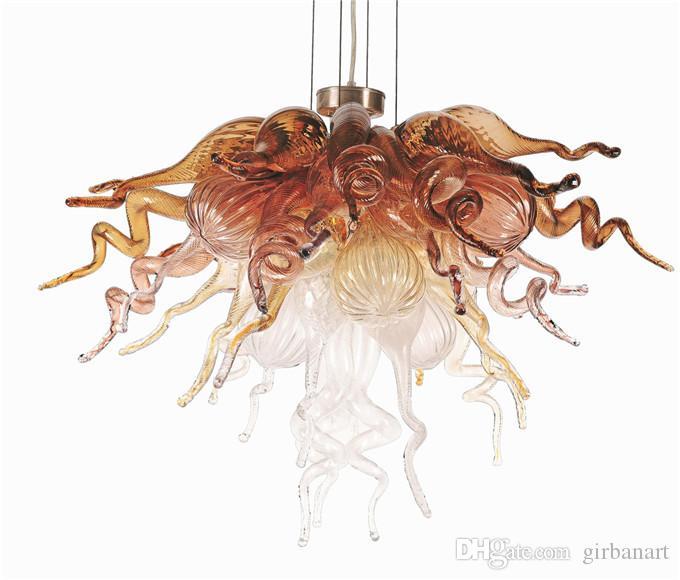 Fast Shipping Modern Pendant Lamps Style Hand Blown Glass Art Chandelier Lighting Restaurant Hotel Lights