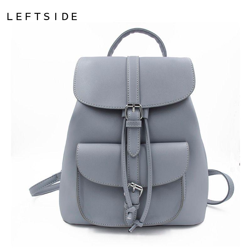 7b480bdc44b5 LEFTSIDE Women S Drawstring PU Leather Backpack School Bags Teenage Girls  Backpacks For Women High Quality Ladies Bagpack Backpacking Backpacks  Personalized ...