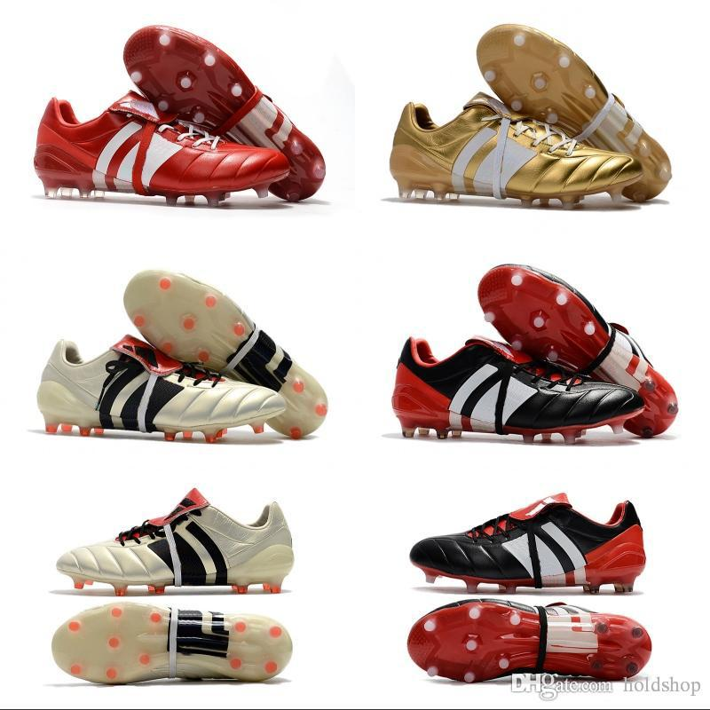 2018 Wholesale Predator Mania ACE 17+ Purecontrol Champagne FG Soccer Boots  Football Boots White Core Mens Cleats Shoes Size 39 46 UK 2019 From  Holdshop aadf49178