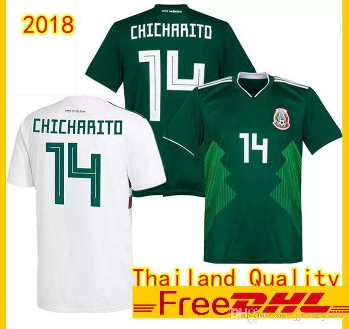 b782338daa92b 2019 DHL Free Thai Quality 2018/19 Mexico Soccer Jerseys Outdoor T Shirts  2018 World Cup CHICHARITO Hernandez Football Shirts Outdoor T Shirts From  ...