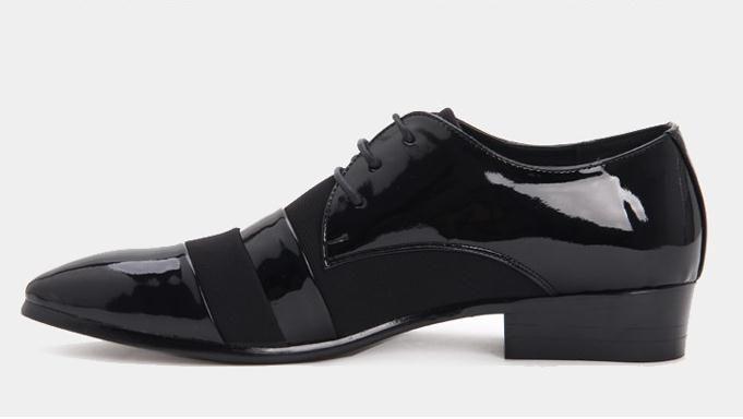 2018 NEW Men's groom dress shoes Flat Shoes Luxury Men's Business Oxfords Casual Shoe Black Leather Derby Shoes