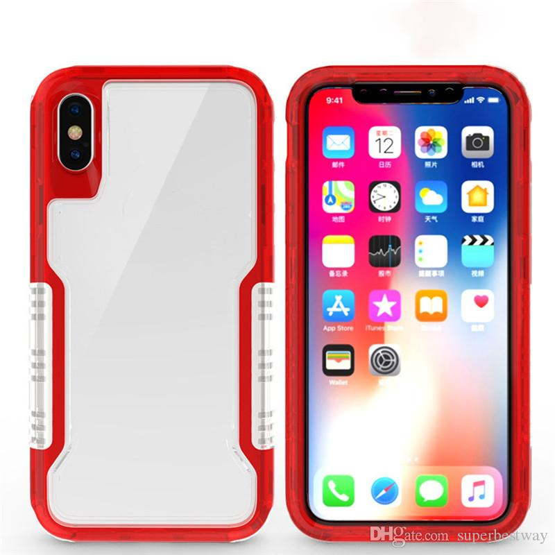 For Iphone Xs Xr Case 3in1 Clear Hybrid Soft Tpu Hard Pc Back Cover